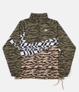 Image for Nike AOP VW Swoosh Woven Half Zip Jacket - Medium Olive / White / White