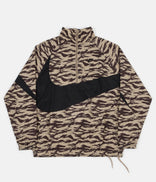 Image for Nike AOP VW Swoosh Woven Half Zip Jacket - Khaki / Black / Black