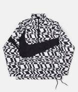 Image for Nike AOP VW Swoosh Woven Half Zip Jacket - White / Black / Black