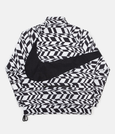Nike AOP VW Swoosh Woven Half Zip Jacket - White / Black / Black