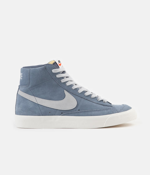 Nike Blazer Mid '77 Suede Shoes - Thunderstorm / Pure Platinum - Sail