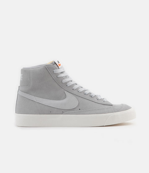 Nike Blazer Mid '77 Suede Shoes - Wolf Grey / Pure Platinum - Sail