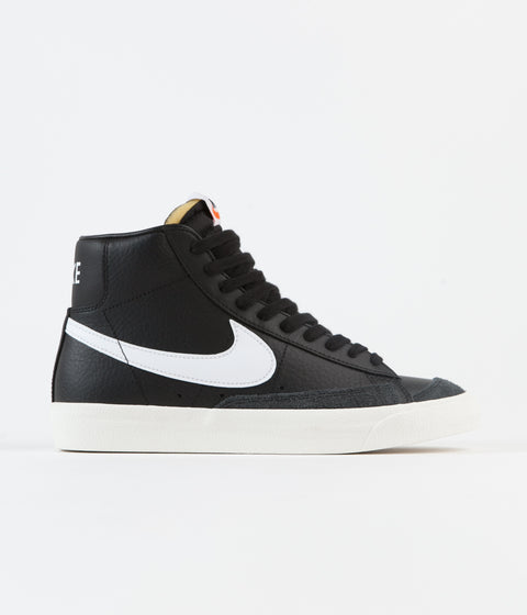 Nike Blazer Mid '77 Vintage Shoes - Black / White - Sail