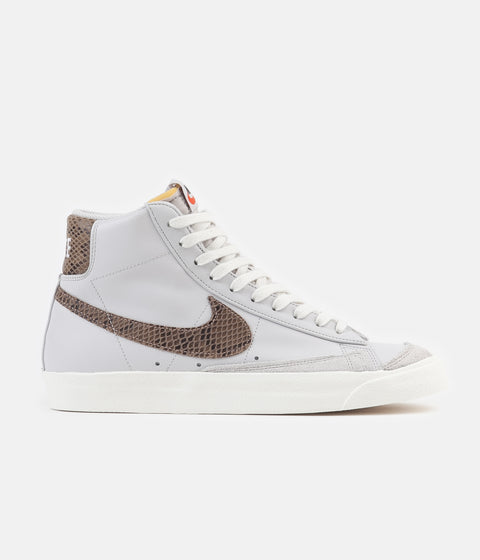 Nike Blazer Mid 77 Vintage Shoes - Vast Grey / Metallic Red Bronze - Sail