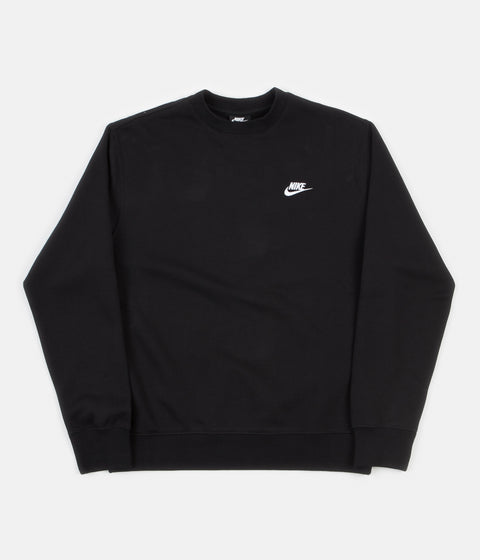 Nike Club Crewneck Sweatshirt - Black / White