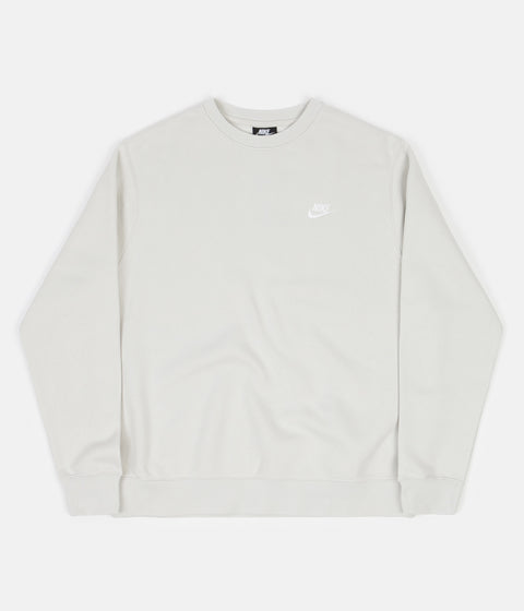 Nike Club Crewneck Sweatshirt - Light Bone / White