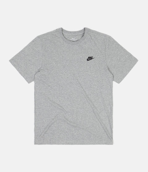 Nike Club T-Shirt - Dark Grey Heather / Black