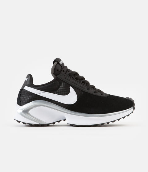 Nike D/MS/X Waffle Shoes - Black / White - Metallic Silver - White