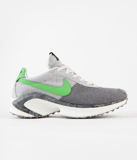 Nike D/MS/X Waffle Shoes - Smoke Grey / Mean Green - Photon Dust - Sail