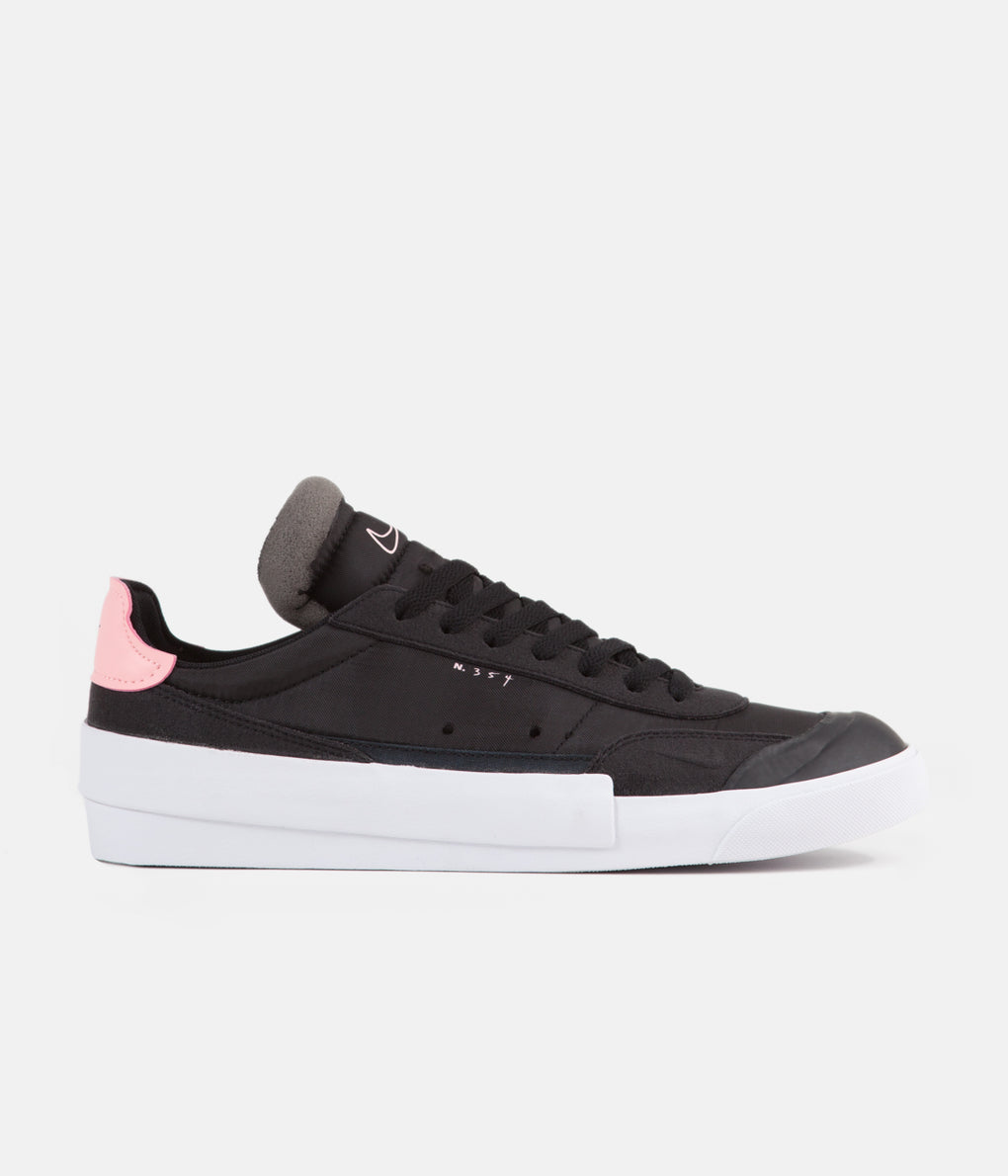 Nike Drop Type LX Shoes - Black / Pink Tint - White - Zinnia