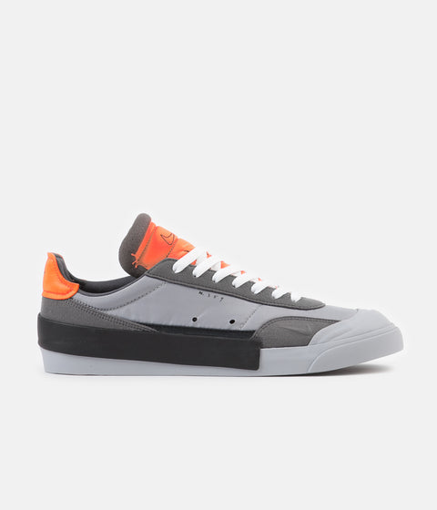 Nike Drop Type LX Shoes - Wolf Grey / Black - Total Orange - Dark Grey