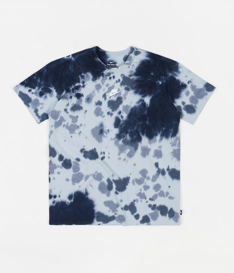Nike Essential Tie Dye T-Shirt - Thunder Blue / Light Armory Blue