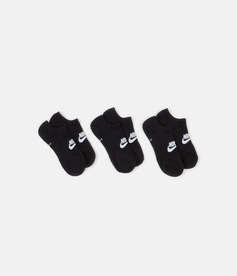 Nike Everyday Essential No Show Socks (3 Pair) - Black / White
