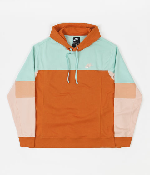 Nike French Terry Hoodie - Light Dew / Campfire Orange / Arctic Orange