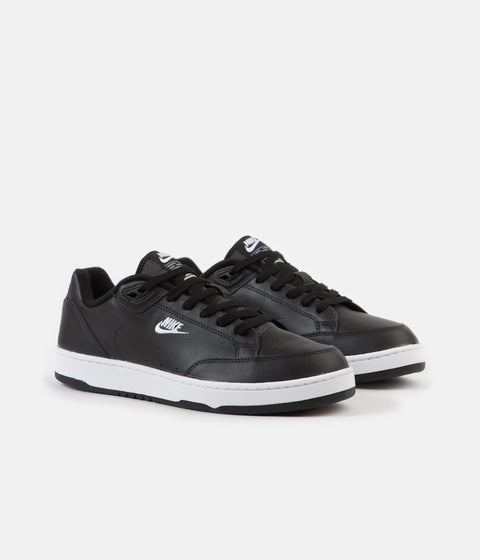 Nike Grandstand II Shoes - Black / White - Neutral Grey