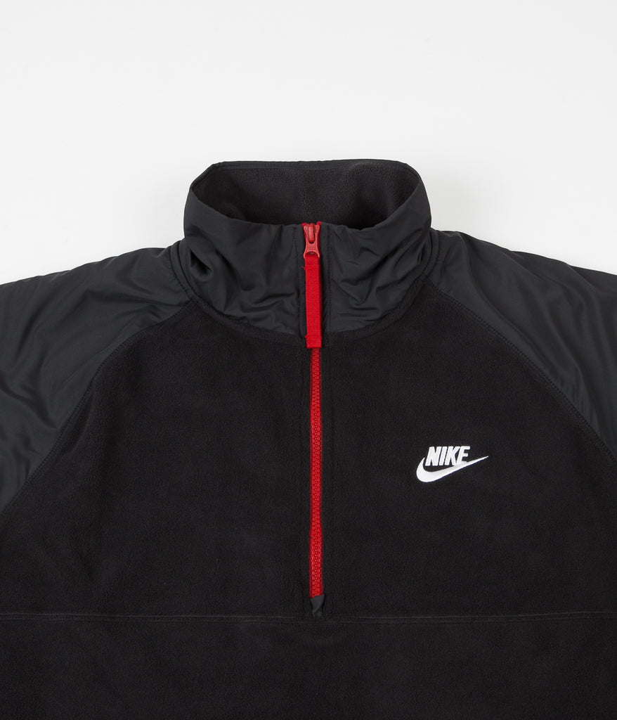 Alabama Calibre mensual  Nike Half Zip Fleece - Black / Off Noir / Gym Red / White | Always in Colour