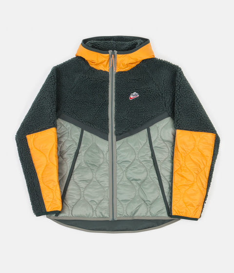 Nike Heritage Insulated Winter Jacket - Vintage Green / Spiral Sage - Kumquat