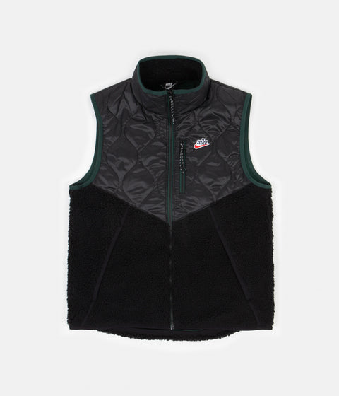 Nike Heritage Insulated Winter Vest - Black / Black - Pro Green