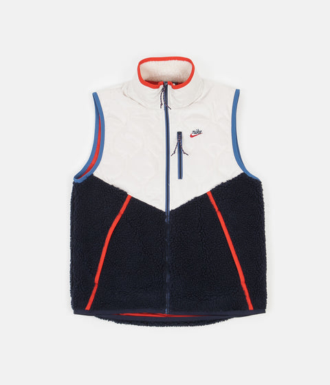 Nike Heritage Insulated Winter Vest - Light Orewood Brown / Obsidian - Chile Red