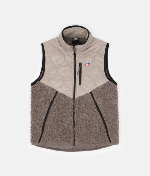 Nike Heritage Insulated Winter Vest - Mystic Stone / Olive Grey - Black