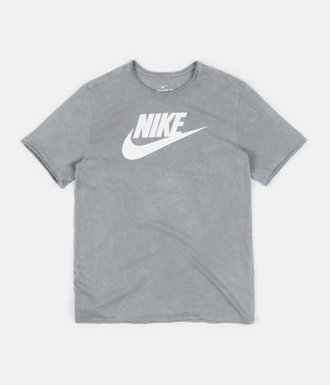 Nike Icon Futura Wash T-Shirt - Particle Grey / White