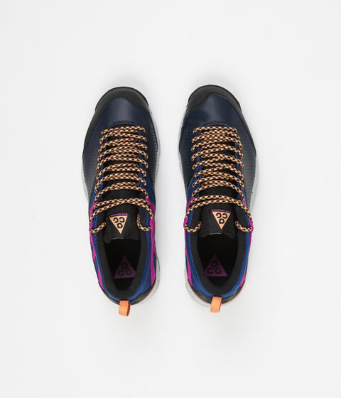 Nike ACG Okwahn II Shoes - Obsidian / Fuel Orange - Indigo Force