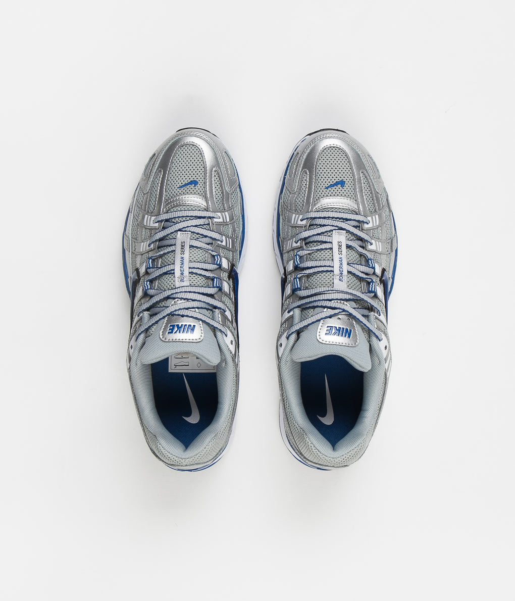 Nike P-6000 Shoes - Metallic Silver / Team Royal - White - Black