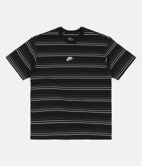 Nike Premium Essential Striped T-Shirt - Black