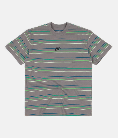 Nike Premium Essential Striped T-Shirt - Flat Pewter
