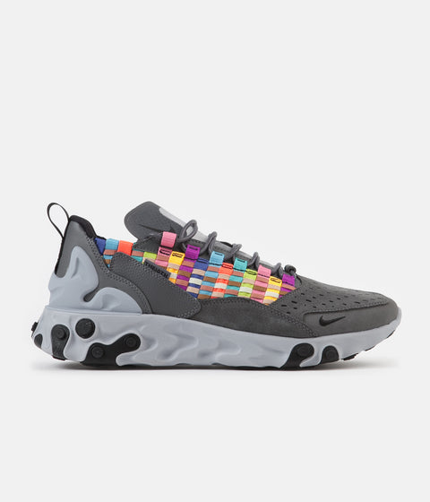 Nike React Sertu Shoes - Iron Grey / Black - Light Smoke Grey
