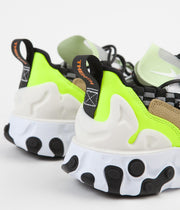 Nike React Sertu Shoes - Black / White - White - Volt