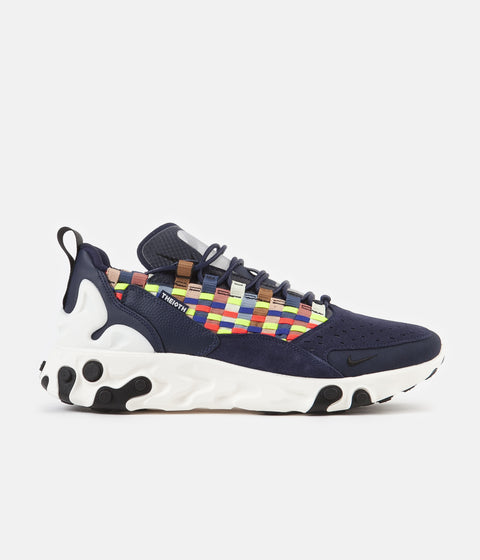 Nike React Sertu Shoes - Blackened Blue / Black - Sail