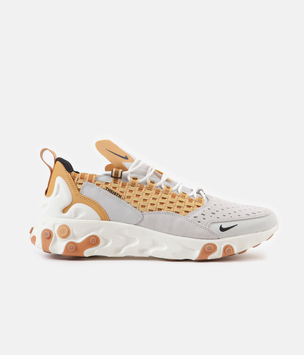 Nike React Sertu Shoes - Vast Grey / Black - Light Smoke Grey - Honeycomb