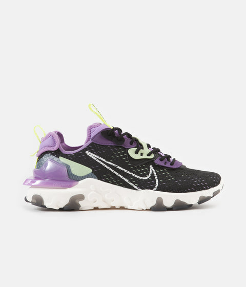 Nike React Vision Shoes - Black / Sail - Dark Smoke Grey - Gravity Purple