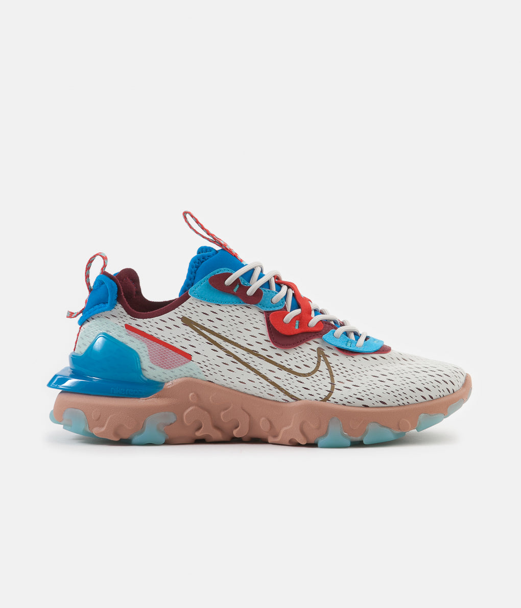 Nike React Vision Shoes - Light Bone / Terra Blush - Photo Blue
