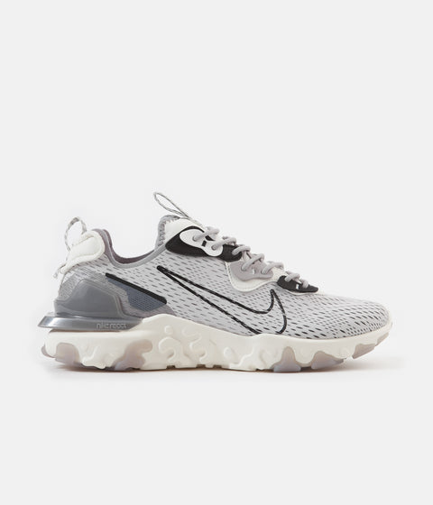 Nike React Vision Shoes - Vast Grey / Black - Sail - White