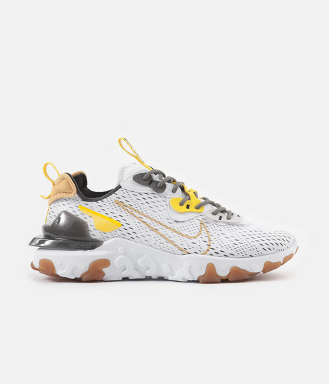 Nike React Vision Shoes - White / Honeycomb - Iron Grey - Vast Grey
