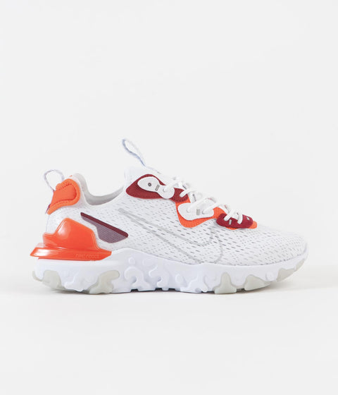Nike React Vision Shoes - White / Light Smoke Grey - Team Orange - Team Red