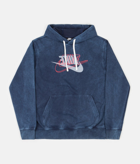 Nike Retro Hoodie - Midnight Navy / Bright Crimson