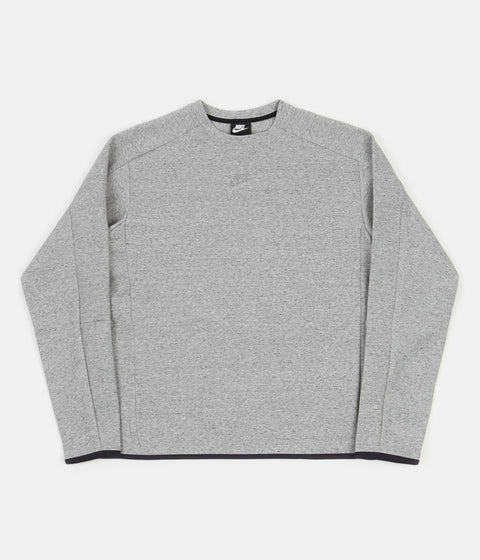Nike Revival Tech Fleece Crewneck Sweatshirt - Black / Heather