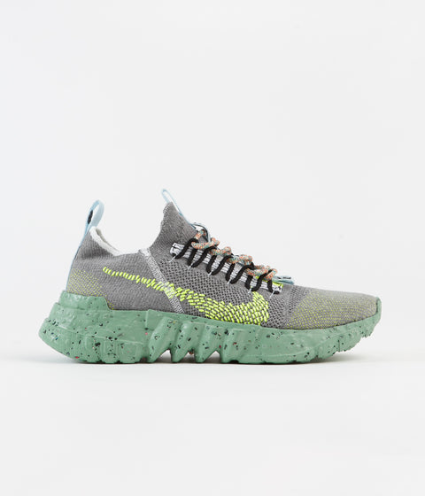 Nike Space Hippie 01 Shoes - Wolf Grey / Volt - Black - White