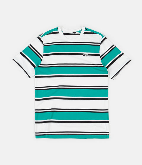 Nike Stripe T-Shirt - White / Neptune Green / Black