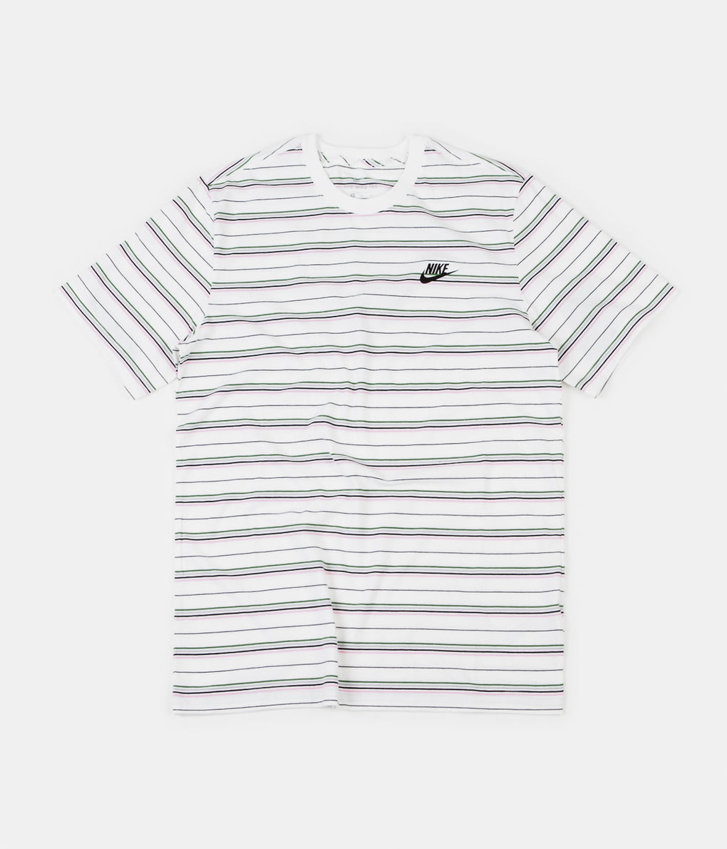 Nike Striped T-Shirt - White / Black