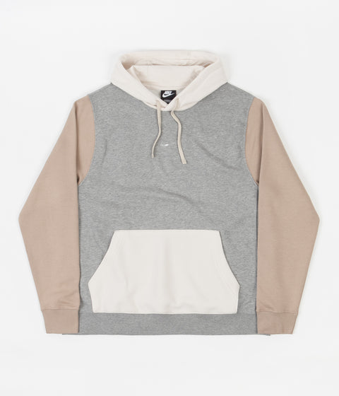 Nike Swoosh Hoodie - Dark Grey Heather / Khaki