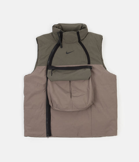 Nike Synthetic Fill Tech Pack Vest - Olive Grey / Twilight Marsh - Black