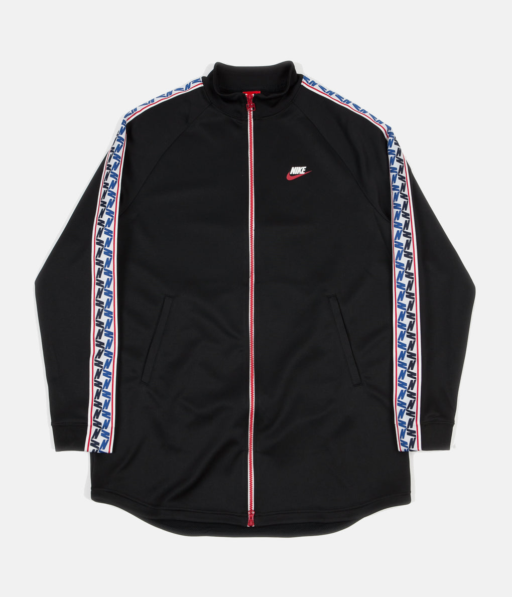 Nike Taped Poly Track Jacket - Black / Gym Red / Sail