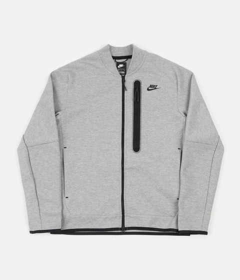 Nike Tech Fleece Bomber Jacket - Dark Grey Heather / Black