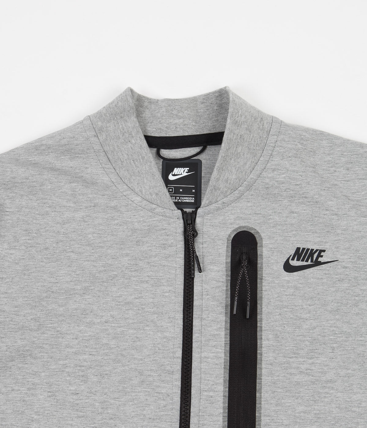 Nike Tech Fleece Bomber Jacket Dark Grey Heather Black Always In Colour