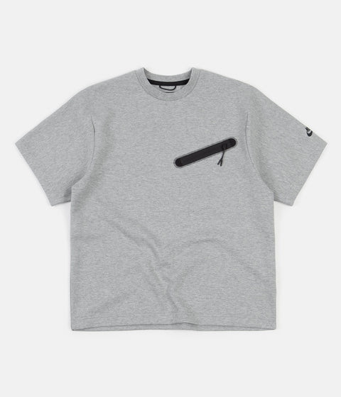 Nike Tech Fleece Crewneck GX T-Shirt - Dark Grey Heather / Black