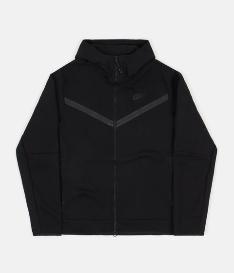 Nike Tech Fleece Full Zip Hoodie - Black / Black